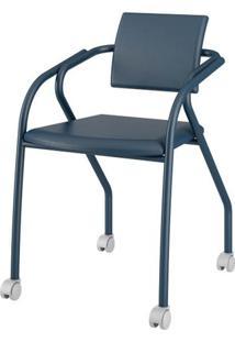 Cadeira 1713 Cor Azul Com Napa Azul - 27686 - Sun House