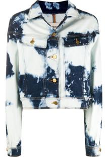 Roberto Cavalli Acid-Wash Jacket - Azul