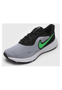 Tênis Nike Revolution 5 Azul/Verde