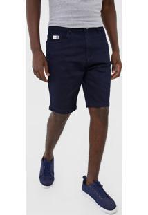 Bermuda Jeans Hang Loose Reta Clean Azul-Marinho - Kanui