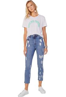 Calça Jeans Slim Destroyed Ecológica