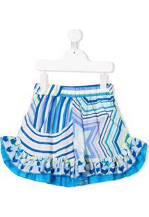 Emilio Pucci Junior Shorts Estampado Com Estrela - Azul