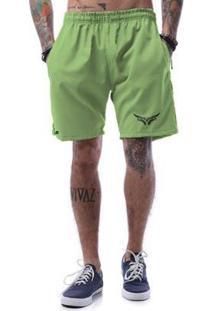 Bermuda Tactel Cellos Street Premium - Masculino-Verde