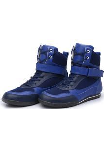 Bota Fitness Em Couro Avalon Sport Musskop Azul