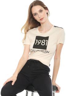 Camiseta Calvin Klein Underwear Lounge Laranja