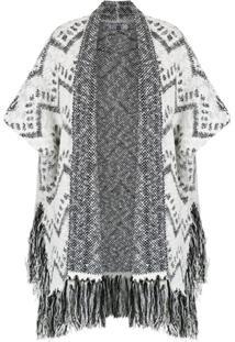 Pop Up Store Kimono De Tricô - Branco