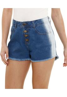 Short Feminino Em Jeans Hot Pants Marisa
