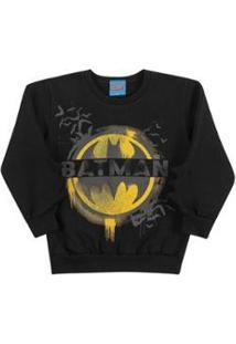 Casaco Bebê Batman Kamylus Masculino - Masculino-Preto