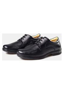Sapato Rafarillo Comfort Cadarço Preto