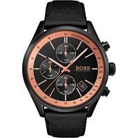 8b8f63998f8 Relógio Hugo Boss Masculino Couro Preto - 1513550