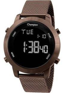 Relógio Champion Digital Ch40062R Feminino - Feminino-Marrom