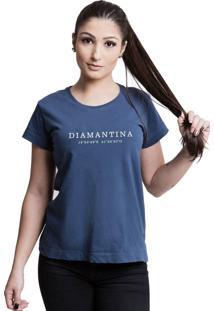 Camiseta Quatorze 08 Destinos Diamantina Azul Marinho