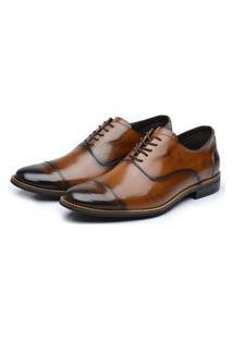 Sapato Social Couro Avalon York Caramelo