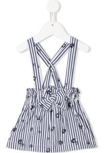 Il Gufo Vestido Pinafore Listrado - Azul