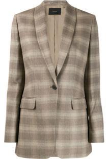 Frenken Checked Suit Jacket - Neutro