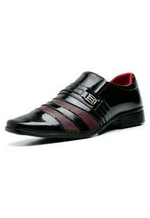 Sapato Social Verniz Top Flex R813Mr Vinho