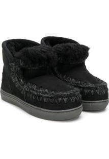 Mou Kids Slip-On Boots - Preto
