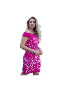 Vestido Tricot Lorena Shopping Do Tricô Verão Floral Modal