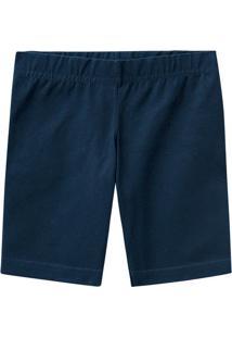 Bermuda Cotton Sustentável Menina Malwee Kids Azul Escuro - 6