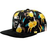 Boné Aba Reta Snapback Hoshwear Floral Horn Colorido 4ee7909745e