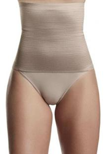 Calcinha Cinta Modeladora Dukley Lingerie Slim Feminina - Feminino-Nude