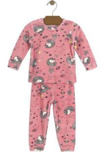 Conjunto Blusão E Calça Bebê Plush Hello Kitty Feminino - Feminino