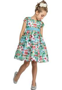 Vestido Marisol Verde Menina