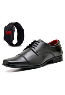 Sapato Social Com Relógio Led Dubuy 807Mr Preto