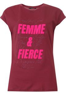 Camiseta Polo Wear Lettering Vinho - Kanui