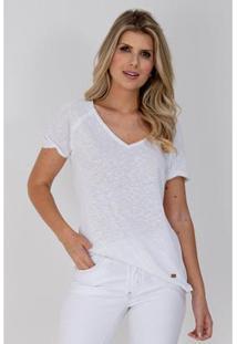 Camiseta Equivoco Reta Fernanda Feminina - Feminino-Branco