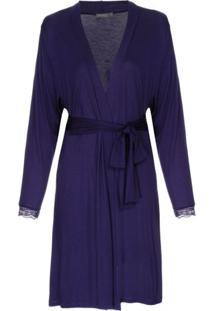 Robe Modal Misty Loungerie – Azul Marinho