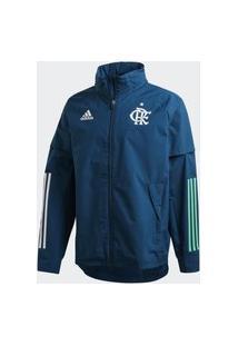 Jaqueta All Weather Cr Flamengo Capa De Chuva Adidas - Azul Fh7569