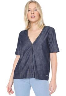 Camiseta Jeans Colcci Lisa Azul - Kanui