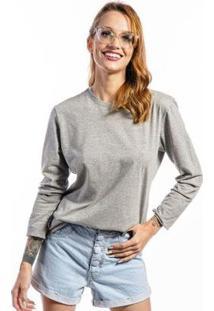 Camiseta Manga Longa Basic Feminina - Feminino