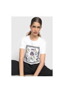Camiseta Vans Border Floral Branca