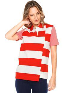 0f49635a13607 Camisa Pólo Lacoste Listrado feminina