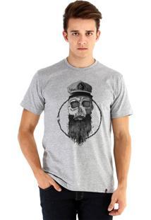 0781bb273 Camiseta Ouroboros Skull Marinero Cinza