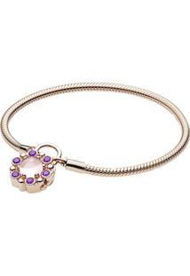 Bracelete Contos Reais Rosê- Rosê Gold- 20Cm- Papandora