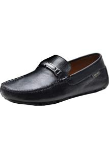 Mocassim Dockside Atron Shoes 3450 Preto