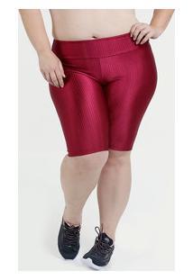 07d91b8cd6 Bermuda Feminina Plus Size Fitness Texturizado Marisa