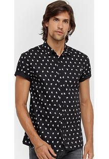 6ccdb99f08 Camisa Colcci Manga Curta Estampada Bolso Masculina - Masculino