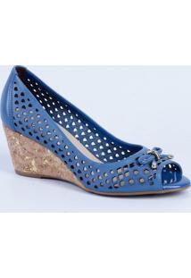 1aade7c5d Peep Toe Azul Dia A Dia feminino | Shoes4you