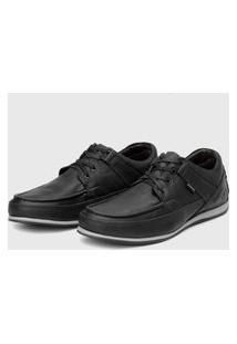 Sapato Em Couro Hayabusa Enter 10 Preto Solado Cinza