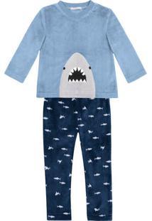 Pijama Infantil Menino Em Fleece Toddler Hering Kids