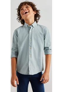 Camisa Mini Oxford Ml Reserva Mini Verde - Kanui