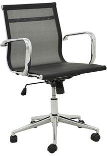 Cadeira Office Sevilha Baixa Tela Preta Rivatti Móveis