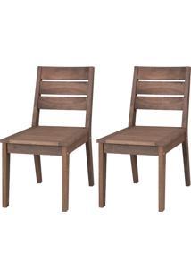 Cadeira Fortaleza (Kit Com 2) - Nogueira
