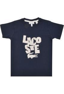 Camiseta Para Meninos Azul Marinho Lacoste infantil   Shoes4you 62d89f28e4
