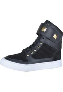Sneaker Fitness Cheia De Marra 1003 Preto - Kanui