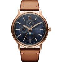 94d00a4f682b3 Relógio Vivara Masculino Couro Marrom - Ds13461R0C-1